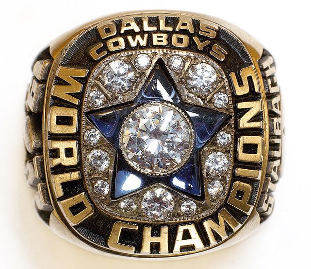 The Dallas Cowboys' Super Bowl VI World Championship ring.