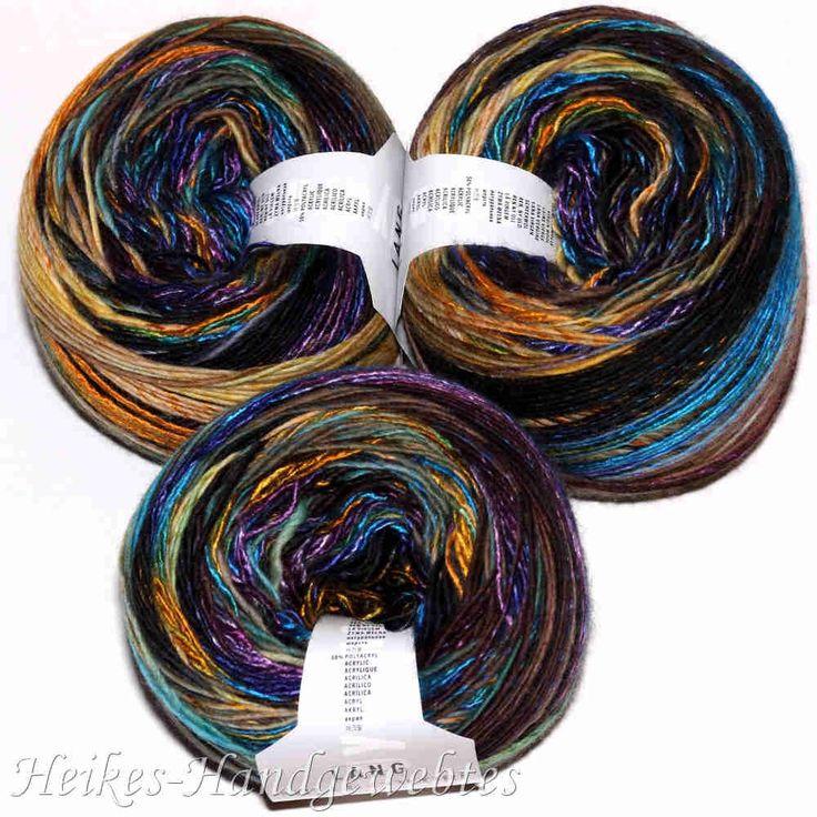 Mille Colori 200g-Bobbel Violett-Petrol-Orange - Heikes Handgewebtes