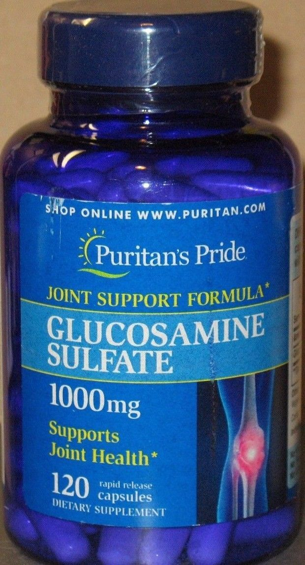 Puritans Pride Glucosamine Sulfate 1000mg 120 Capsules  Joint Health Exp:08/18