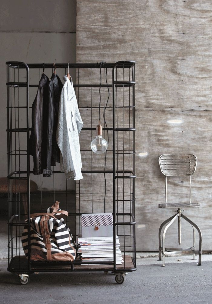 very cool industrial clothes rack industrial house doctor and house. Black Bedroom Furniture Sets. Home Design Ideas