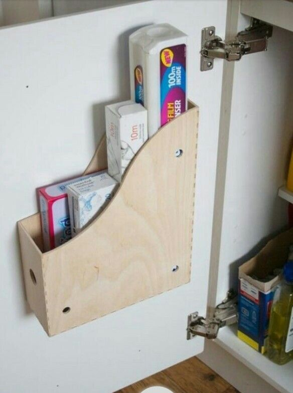 Store your foils and wraps in this magazine holder.