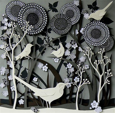 Awesome paper sculptures by helen musselwhite paper for Beautiful paper cutting art