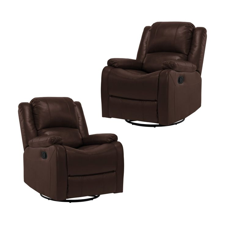 "2 RecPro Charles 30"" RV SGR Swivel Glider Recliner Chair Mahogany RV Furniture"