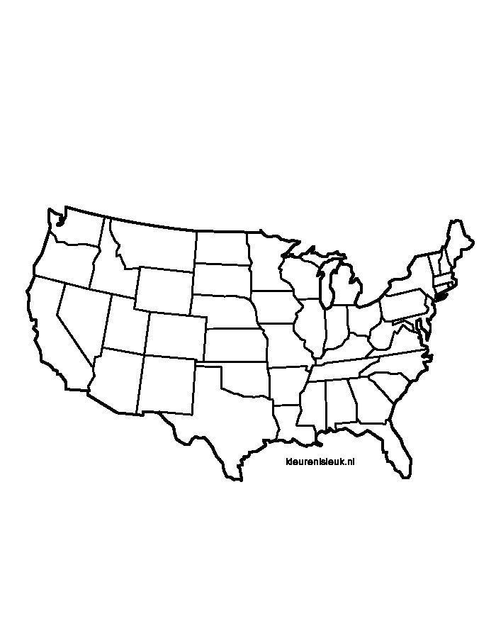 Usa Amerika Vereinigte Staaten Von Amerika Karte Kaart Amerika