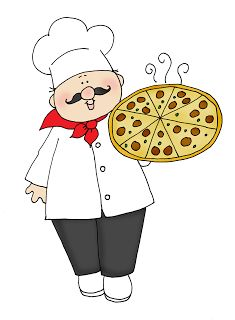 Free Dearie Dolls Digi Stamps: Chef with Pizza