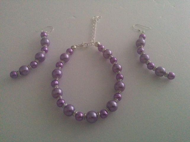 Purple & Crystal Set £7.99