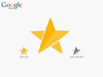 Google Stars Logo and Pin (idea) by Safa Paksu
