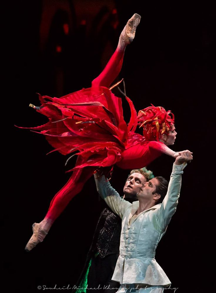 "Natalia Osipova, Marcelo Gomes and David Hallberg, ""The Firebird"", American Ballet Theatre, The Segerstrom Center for the Arts, Costa Mesa, California, US (March 29, 2012) Source and more info at: ..."