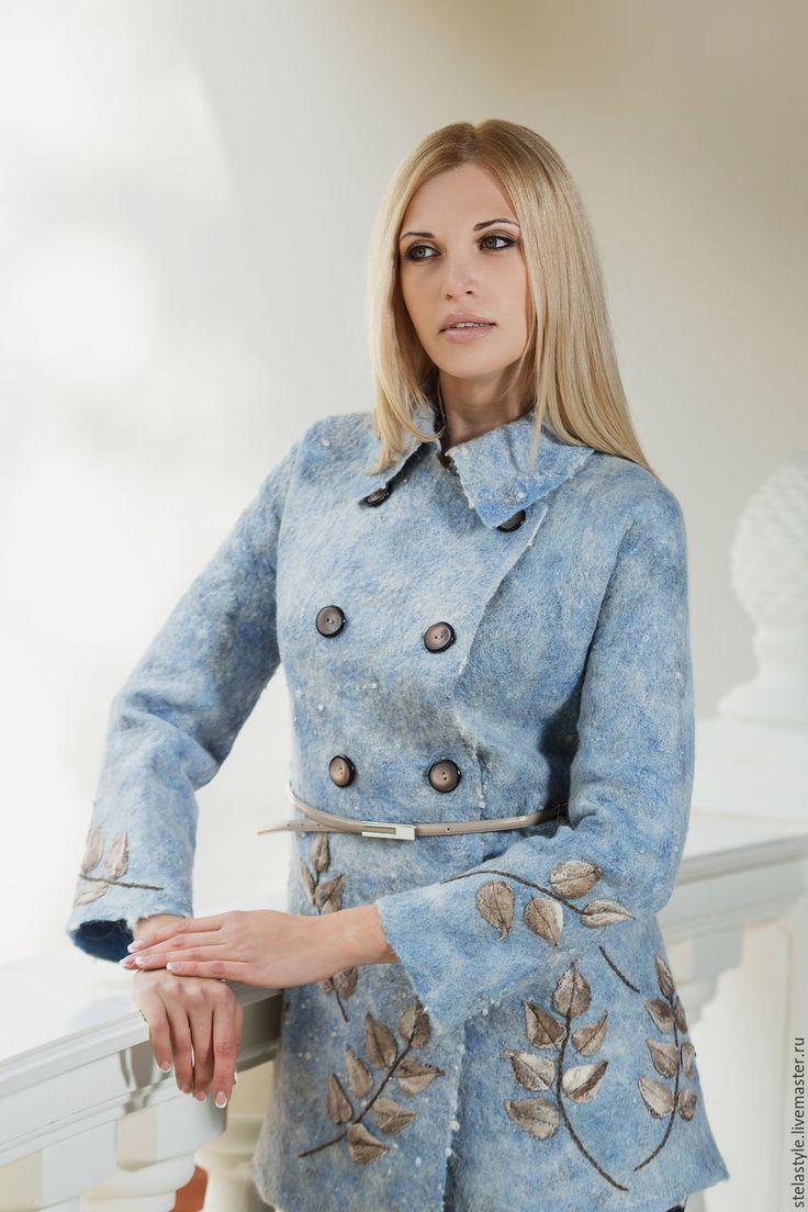 """Купить """" Bleu"""" - голубой, теплый, осенняя мода, альпака, ручная авторская работа, осень"""