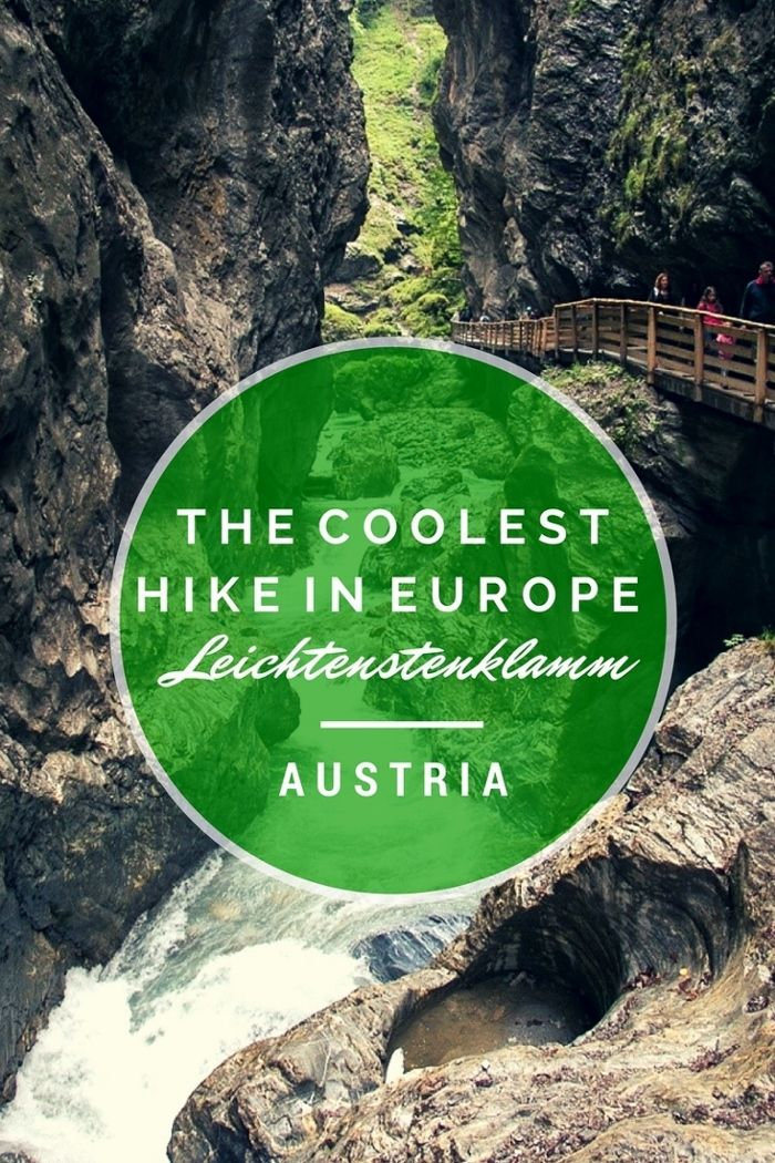 The Coolest Hike in Europe ~ Liechtensteinklamm, Austria #austria #travel #wanderlust