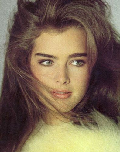 Brooke Shields still has best eyebrows - thick and natural ..click to see eyebrows through the decades. Thick>thin
