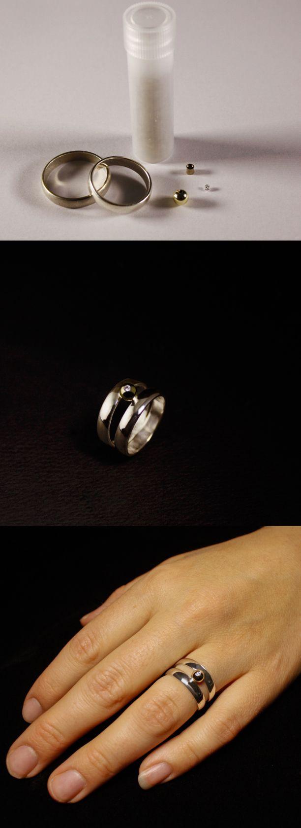 Lees hier het verhaal achter deze bijzondere asring! #goudsmidmetpassie #assieraden #omdatikjemis #herdenkingssieraden #handgemaaktesieraden #ashjewels #ashring #memorialjewelry