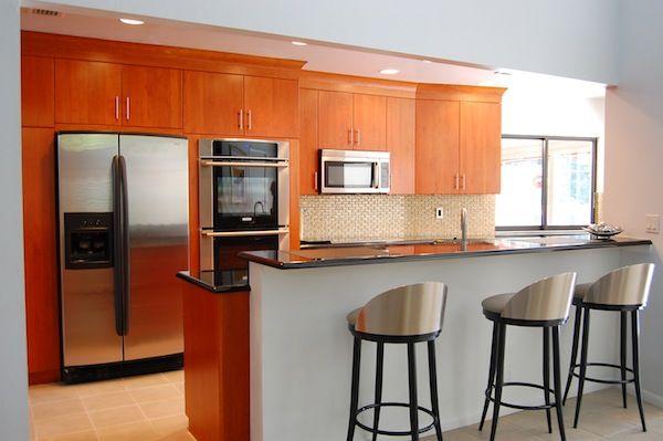 Modern cherry kitchen dutch haus custom furniture for A 1 custom cabinets