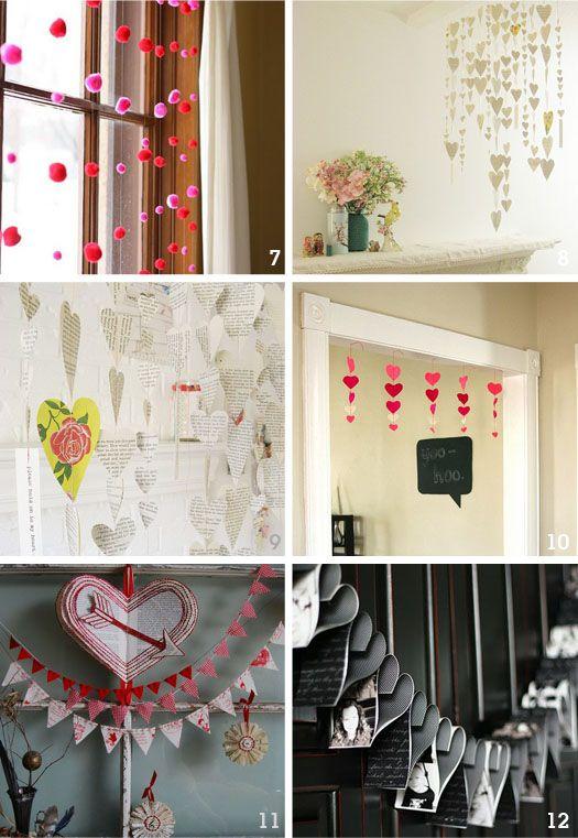 valentines day ideas: Valentine'S Day, Valentine Day Ideas, Valentine Day Crafts, Hanging Heart, Heart Garlands, Cute Ideas, Valentine Ideas, Garlands Ideas, Pom Pom