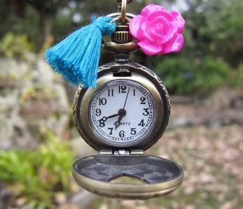 Collares Mujer Reloj Vintage Tipo Relicario Joyas De Moda - Reloj de Bolsillo Corazon  Accesorios para mujer