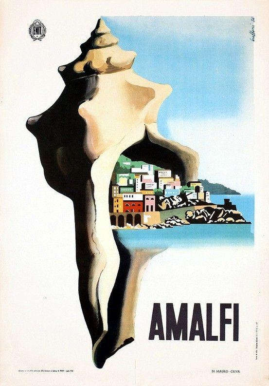 Vintage Italian Posters ~ #Italian #vintage #poster ~ Amalfi