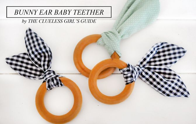 Bunny Ear Baby Teether Diy A Fun Fast And