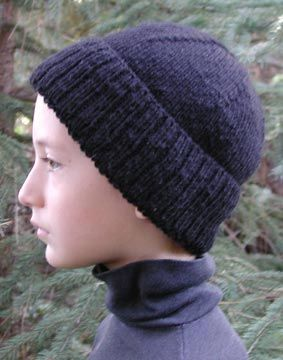 Seaman's Cap--love this pattern.  Easy to make and a very good fitting basic hat that will fit under a coat hood.
