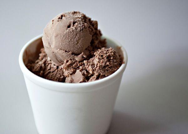 Chocolate Ice Cream recipe -another pinner said: I love this ice cream.  It is not super chocolaty, not super sweet, just perfect. #dessert #chocolate #icecream