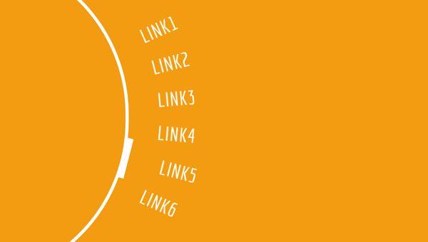 Circular Links Menu