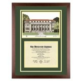 Colorado State University Diploma Frame with CSU Lithograph Art PrintBy Old School Diploma Frame Co.