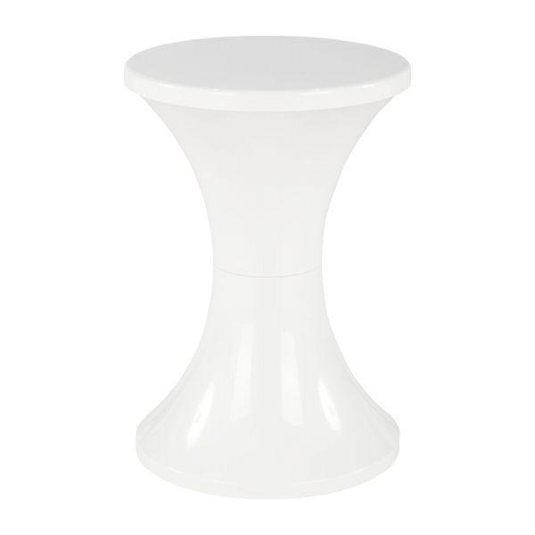 Tabouret blanc en plastique
