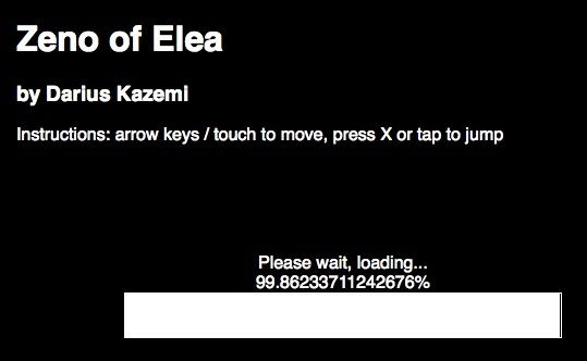 Zeno of Elea by Darius Kazemi, philosophical and conceptual video game http://neural.it/microposts/zeno-of-elea-by-darius-kazemi/