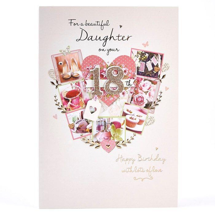 18th Birthday Card For A Beautiful Daughter Card Factory 18th Birthday Cards Happy Birthday Daughter Wishes Birthday Wishes For Daughter