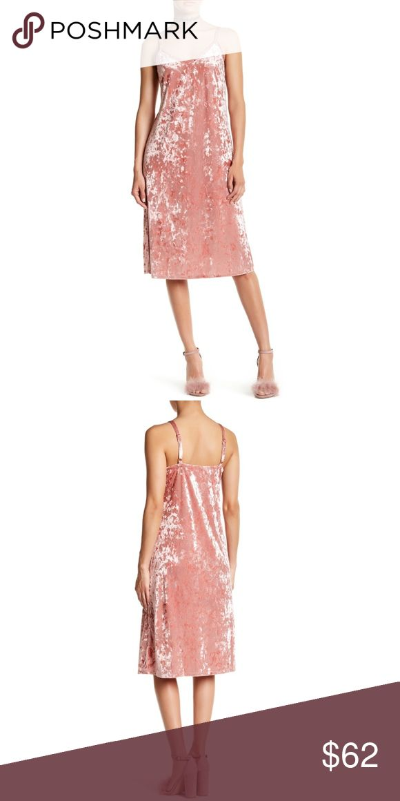 Pink velvet slip dress Crushed velevt midi length slip dress. New with tags  Retail: $62 Sizes:  Small  ❤I have over 300 new with tag Free People & More items for sale! I love to offer bundle discounts!  ❤No trades. I no longer discuss pricing in comments. Please use offer button to submit offer!  Nordstrom Dresses Midi