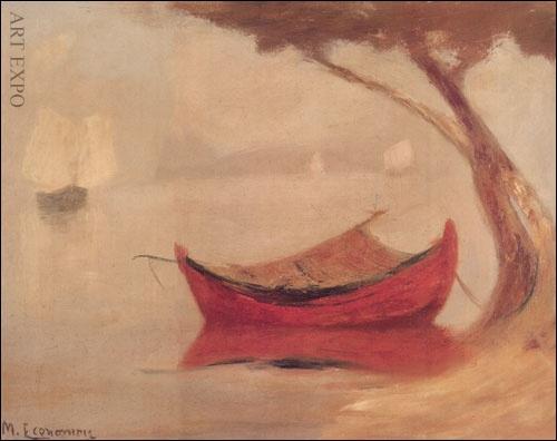 """""""Κόκκινη βάρκα"""", Οικονόμου."""