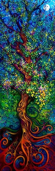 .: Tattoo Ideas, Trees Art, The Artists, Color, Treeart, Trees Of Life, Laura Zollar, Trees Paintings, Tree Of Life