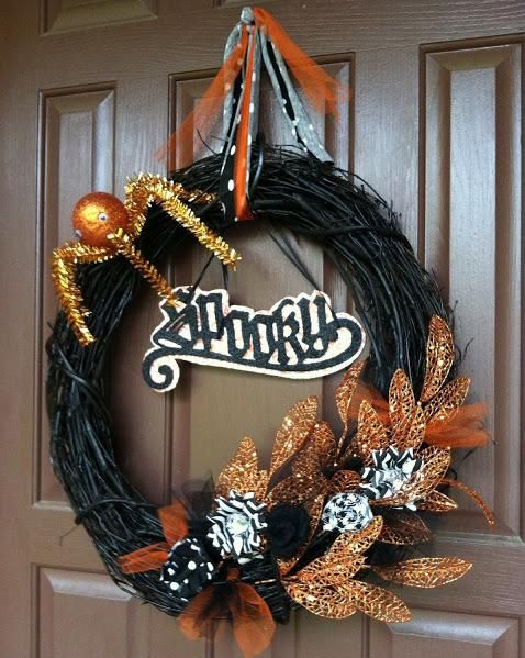 394 best images about halloween on pinterest for Decoration porte halloween