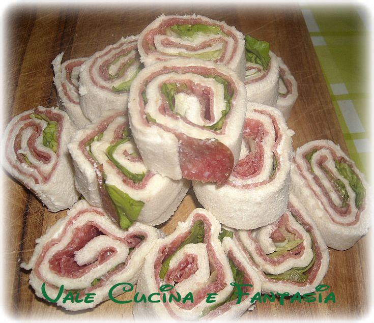 Girelle di pancarrè con salame