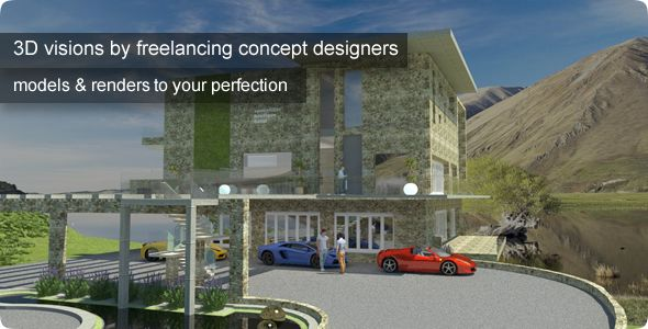 3D living spaces, conceptual designs, visualisations
