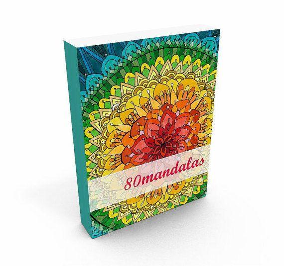 Coloring Book 80 Mandalas book drawing coloring book от Obsigen