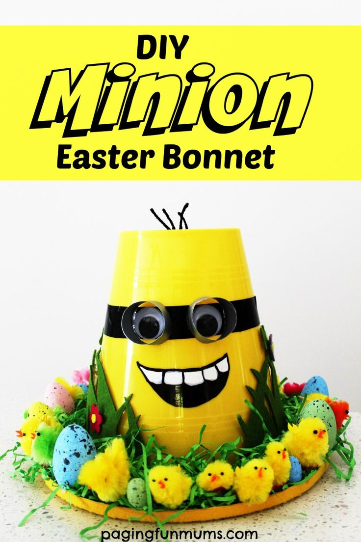 DIY Minion Easter Bonnet