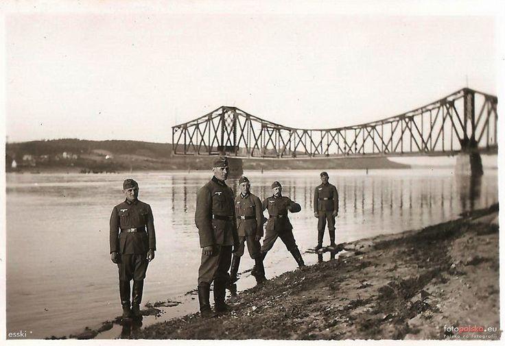 Most im. gen. Edwarda Rydza-Śmigłego (Weichselbrücke), Włocławek - 1940 rok, stare zdjęcia
