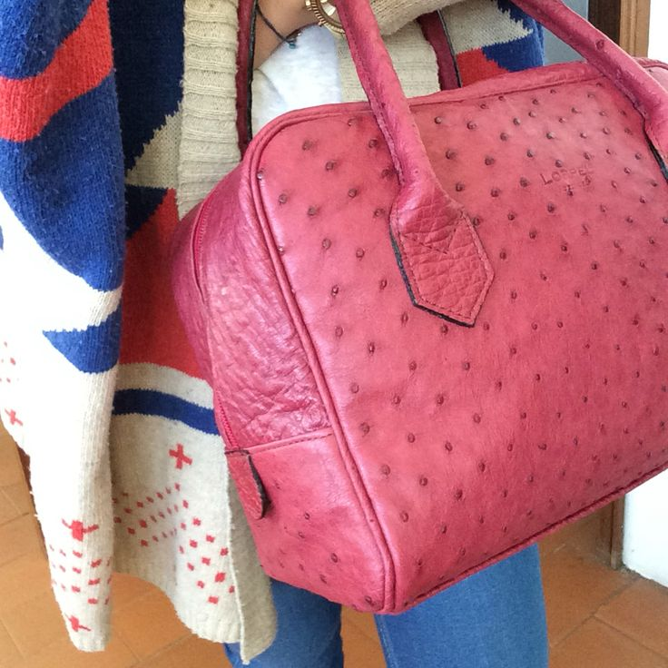 New bag ❤️  #ostrichleatherbag #bag
