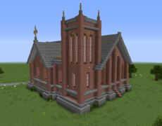 Unfurnished Small Victorian Church - GrabCraft - Your number one source for MineCraft buildings, blueprints, tips, ideas, floorplans!