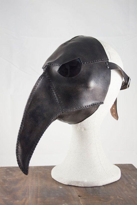 Leather Plague Doctor mask. Steampunk by CamaraDelAlquimista
