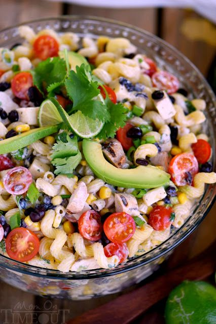 Creamy Cilantro Lime Southwestern Pasta Salad | KITCHEN MOM'S