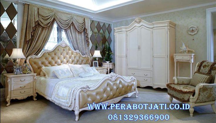 Interior Set Kamar Utama Mewah Warna Putih Mirenna | Jual Tempat Tidur Klasik Mewah