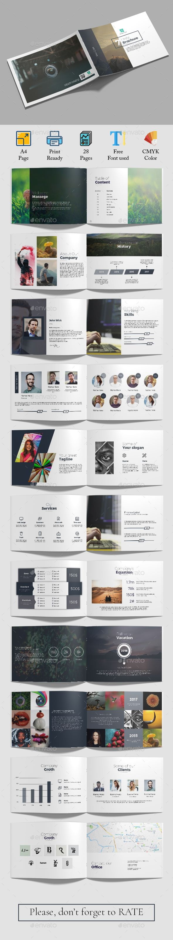 Unity A4 Landscape Brochure Template InDesign INDD - 24 Pages A4. Download here:...