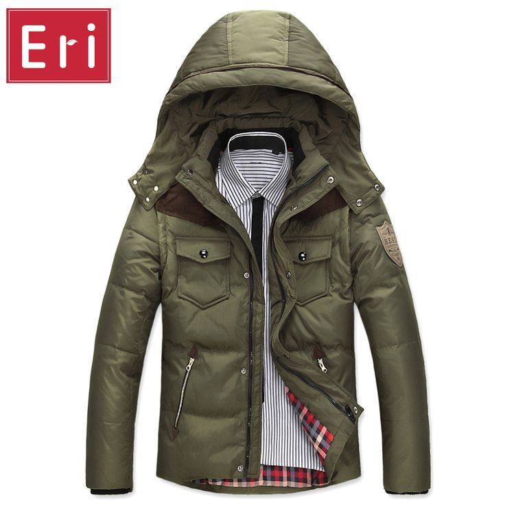 2017 Winter Men's Down Jackets Slim Fit White Duck Down Padded Coats Men's Down Parkas Brand Fashion Jacket Coat X335