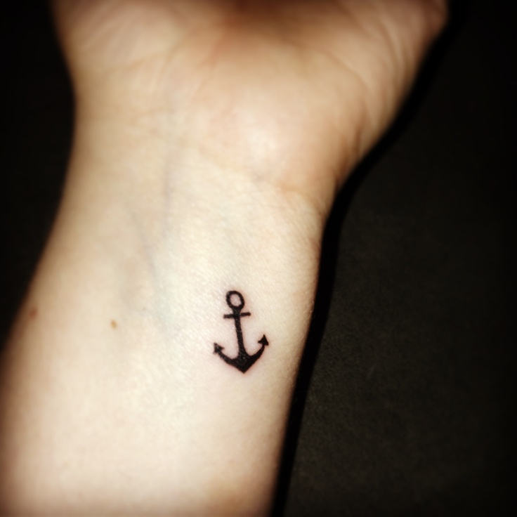 anchor i want this on my foot in white ink tic