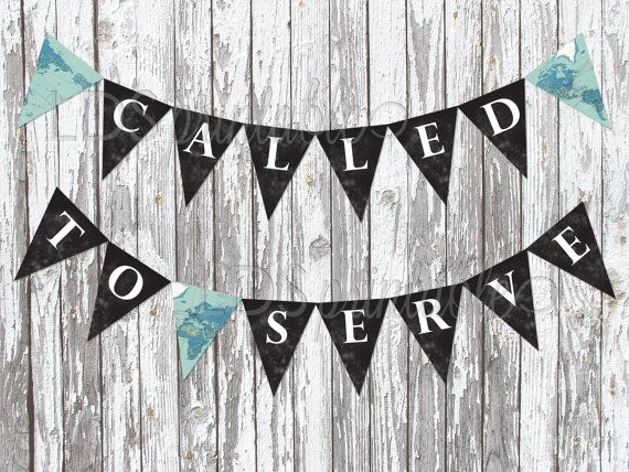 Called to Serve LDS Missionary Banner Cupcake Topper by LDSPrintable