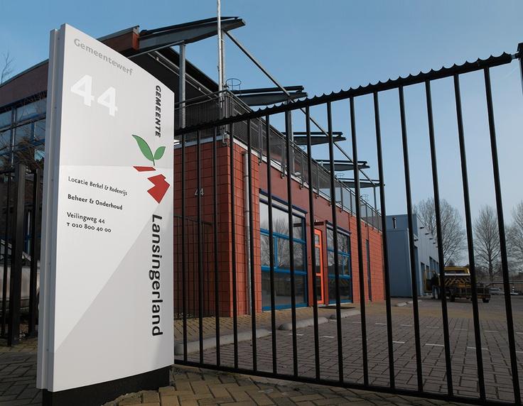 Bewegwijzering, Gemeente Lansingerland / bewegwijzering / 2007 - Ontwerp door Cascade - visuele communicatie Amsterdam
