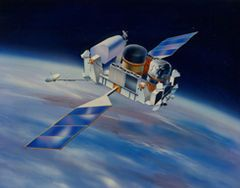 The Compton Gamma Ray Observatory (CGRO) was a space observatory detecting light from 20 keV to 30 GeV in Earth orbit from 1991 to 2000. It featured four main telescopes in one spacecraft, covering X-rays and gamma rays, including various specialized sub-instruments and detectors. Following 14 years of effort, the observatory was launched from Space Shuttle Atlantis during STS-37 on April 5, 1991, and operated until its deorbit on June 4, 2000.