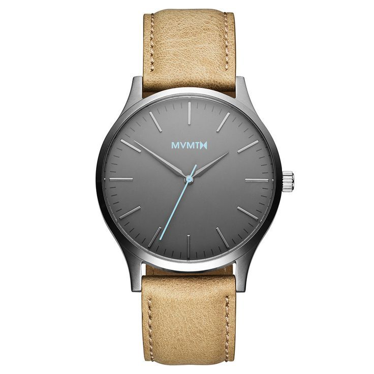 The 40 - Gunmetal/Sandstone Leather | MVMT Watches