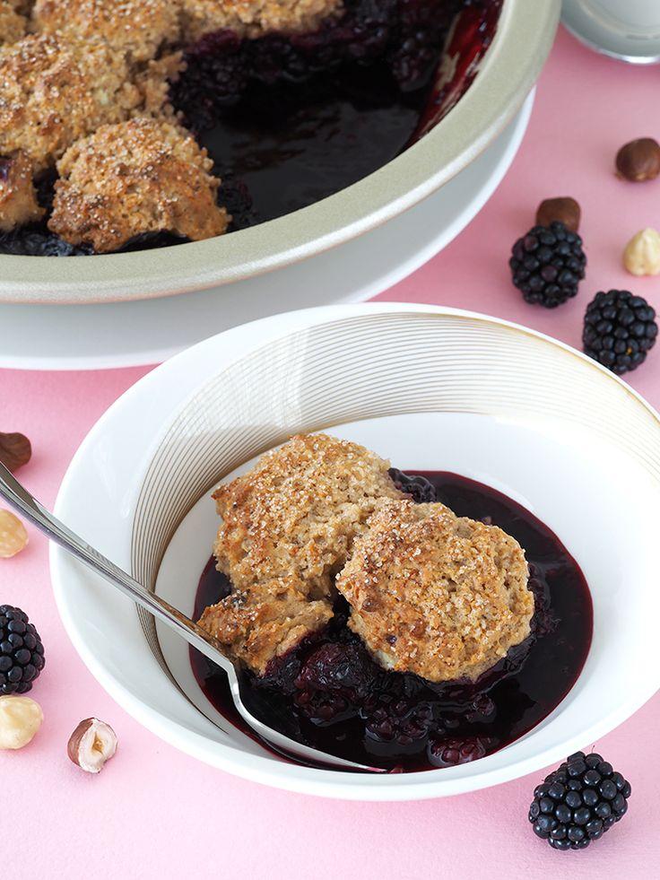 Healthy Blackberry Cobbler | The Breakfast Drama Queen